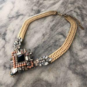 Aldo Gold Embellished Necklace